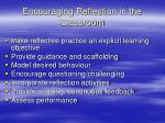 encouraging reflection in the classroom