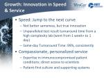 growth innovation in speed service