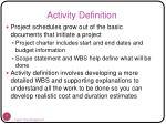 activity definition