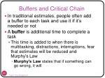 buffers and critical chain
