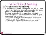 critical chain scheduling61