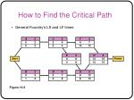 how to find the critical path46