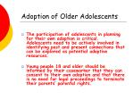 adoption of older adolescents24