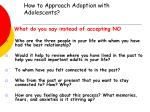 how to approach adoption with adolescents