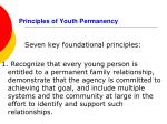 principles of youth permanency