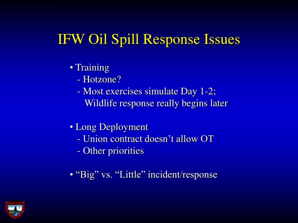 IFW Oil Spill Response Issues