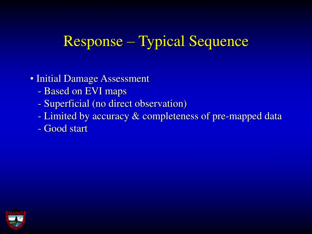 Response – Typical Sequence
