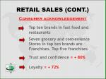 retail sales cont