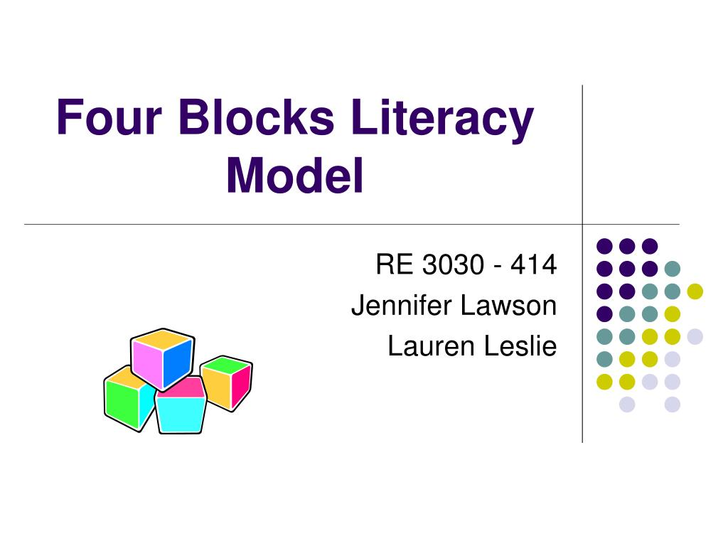 four blocks literacy model l.