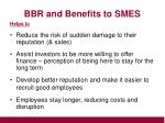 bbr and benefits to smes14