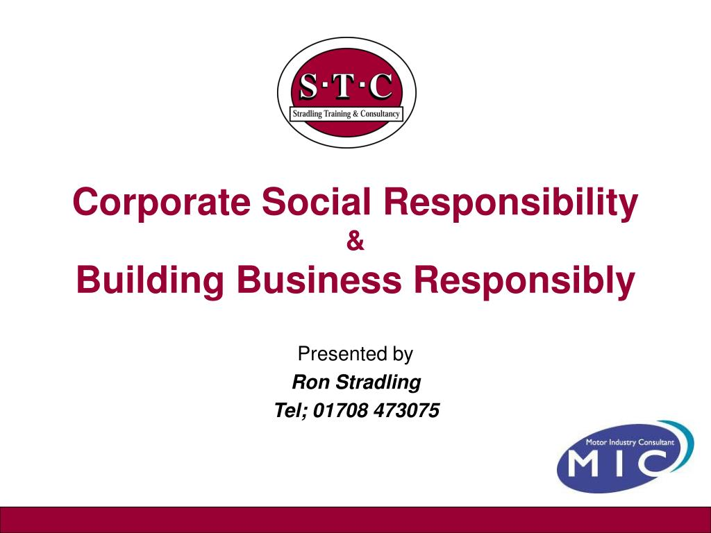 corporate social responsibility building business responsibly l.