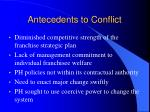 antecedents to conflict