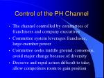 control of the ph channel