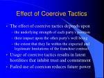 effect of coercive tactics