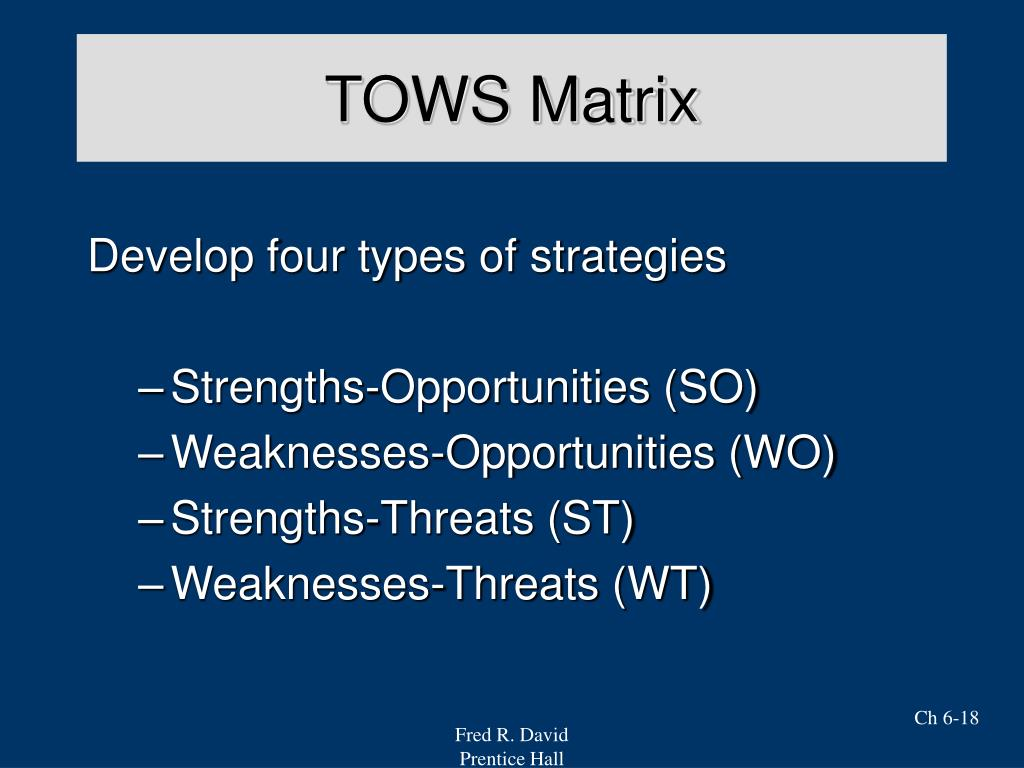google s tows matrix