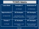 tows matrix25