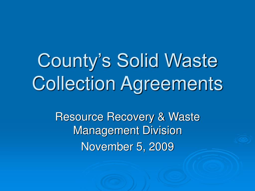 county s solid waste collection agreements l.