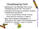 housekeeping cont