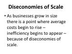 diseconomies of scale