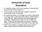 economies of scale examples