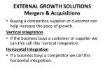 external growth solutions mergers acquisitions