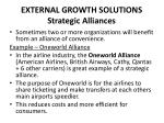 external growth solutions strategic alliances
