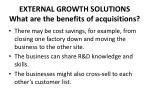 external growth solutions what are the benefits of acquisitions