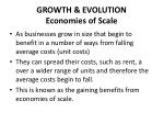 growth evolution economies of scale