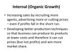 internal organic growth