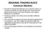 regional trading blocs common markets
