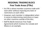 regional trading blocs free trade areas ftas