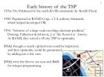 early history of the tsp