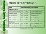 animal feeds personnel