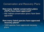 conservation and recovery plans