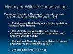 history of wildlife conservation