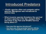 introduced predators