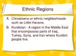 ethnic regions