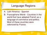 language regions