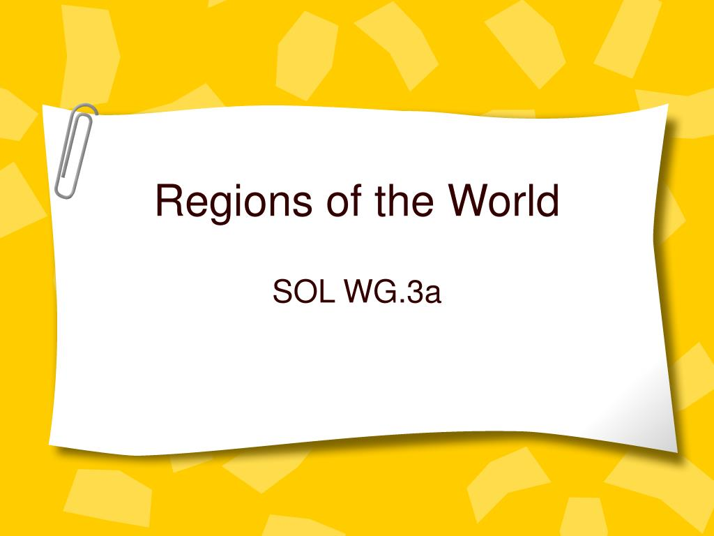 regions of the world l.