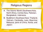 religious regions
