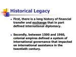 historical legacy
