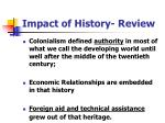 impact of history review