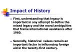 impact of history