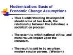 modernization basis of economic change assumptions