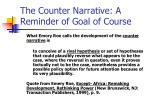 the counter narrative a reminder of goal of course