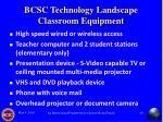 bcsc technology landscape classroom equipment