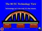 the bcsc technology view
