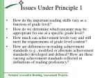 issues under principle 1