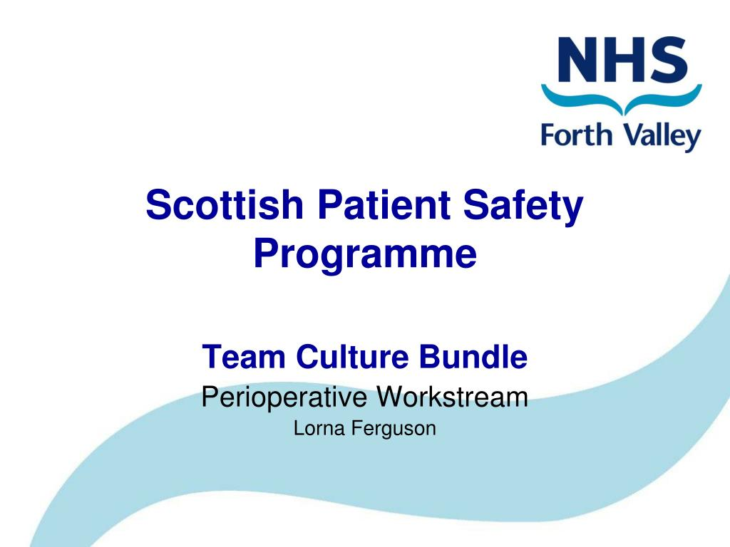 scottish patient safety programme l.