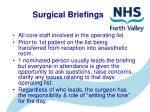surgical briefings